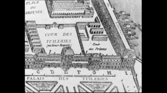 An old planimetry of Paris